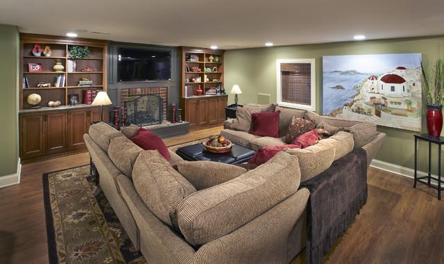 Elmhurst Basement traditional-family-room