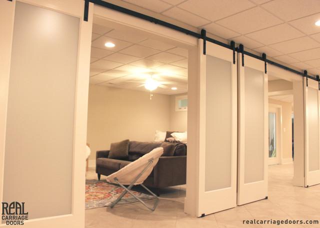 Barn door installations for Commercial interior sliding doors