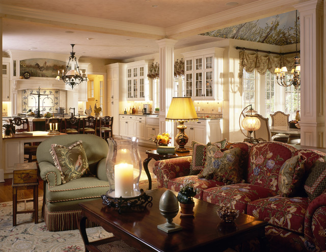 Grand Westchester County Estate traditional family room