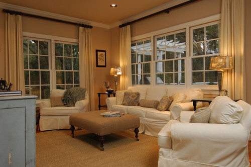 fall decorating ideas mean swapping out white & bringing in ivory & beige