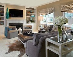 Young Family-Family Room Transformation-Family Room A traditional-family-room