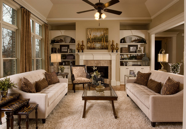 Traditional Family Room And