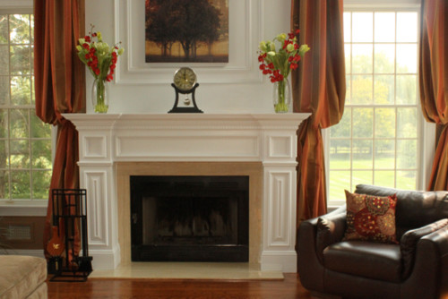 Traditional Fireplace Traditional Family Room New