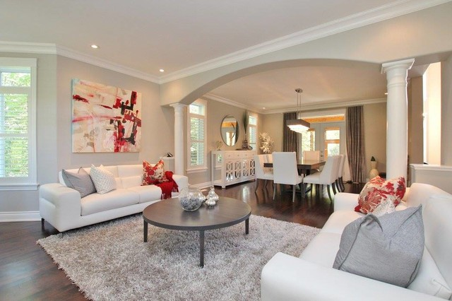 traditional home with modern flair traditional family room