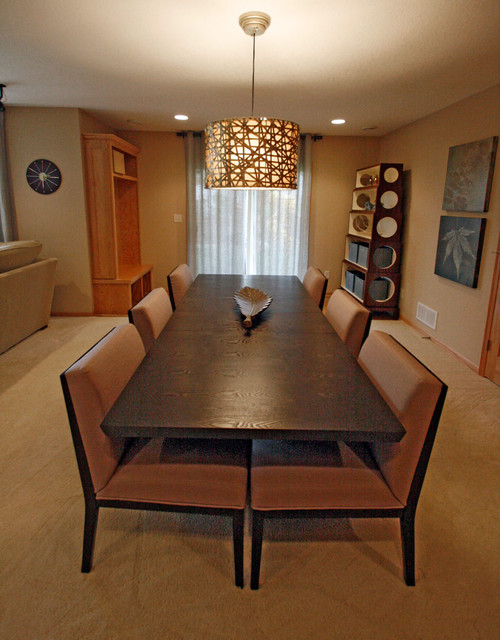 basement transitional family room - photo #2