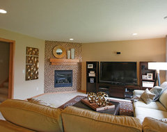 FURNITURE ARRANGEMENT AROUND FIREPLACE DESIGN IDEAS