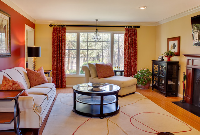 Transitional  home contemporary family room