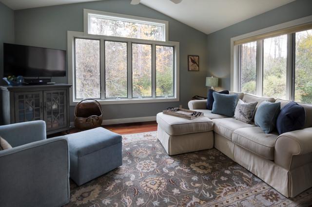 transitional living spaces klassisch modern wohnzimmer