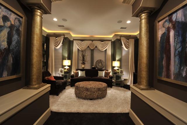 Transitional Remodel Interior Design Desai, T. transitional-family-room