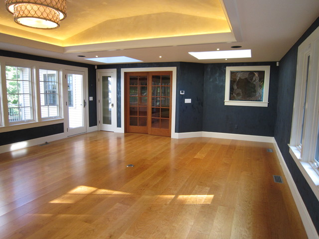 Tray Ceiling With Led Cove Lighting Leather Finish Walls