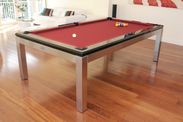 Exceptional Tribeca Hollywood Stainless Pool Table Ocean View Contemporary Family Room