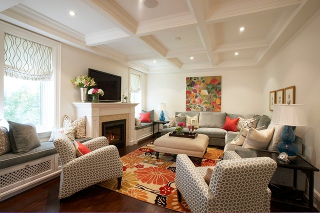 contemporary family room by Meredith Heron