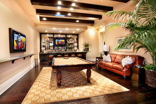Troon Bar Tropical Family Room Orange County By