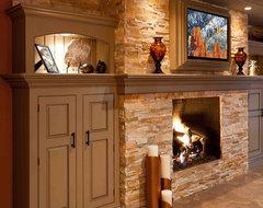 Basement Remodel - Mechanicsburg tropical-family-room