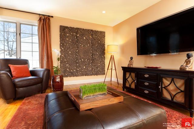 Tropical Home Design Family Room contemporary-family-room