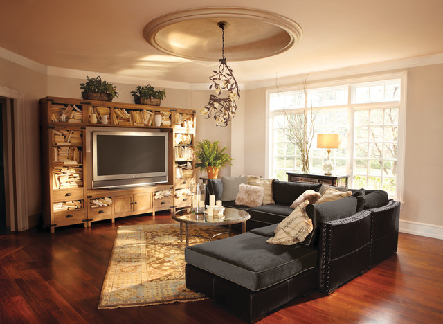 Truffle sofa or sectional contemporary family room for Family room with sectional sofa