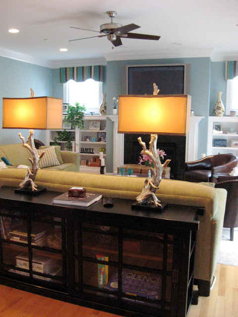 Turquoise Family Great Room eclectic-family-room