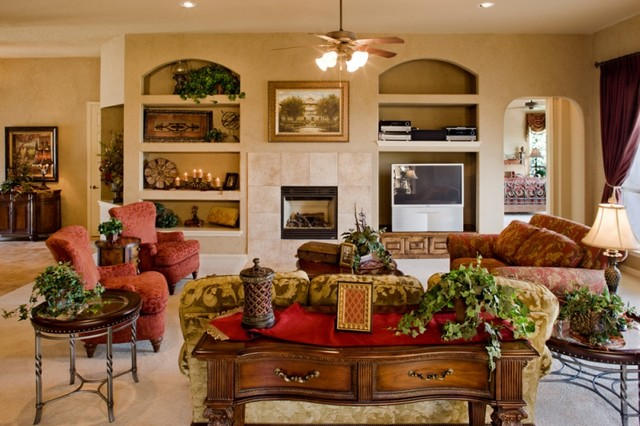 Tuscany Great Room By Sitterle Homes Mediterranean Family Room