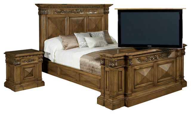 Tv Lift Cabinet Belvedere Tv Lift N Bed With Swivel Transitional Family Room Other Metro