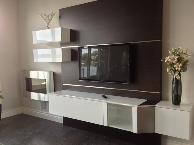 Tv mounting ideas modern family room detroit by - Wall mount tv ideas for living room ...