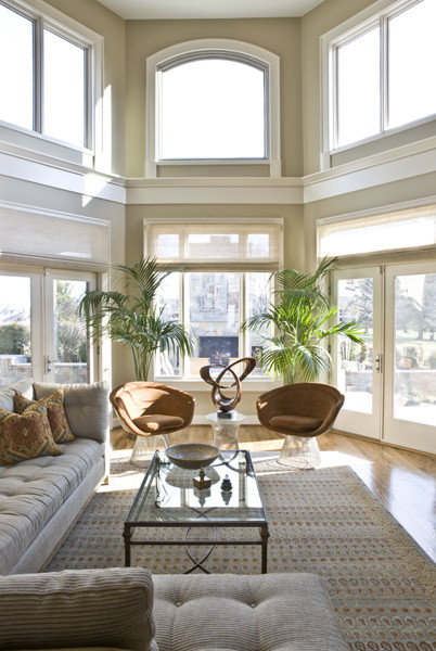Two Story Family Room Danziger Design Potomac Md