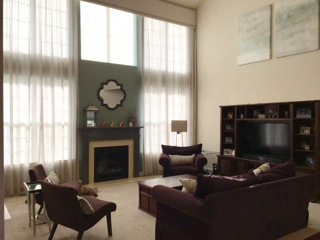 Two Story Family Room Transitional