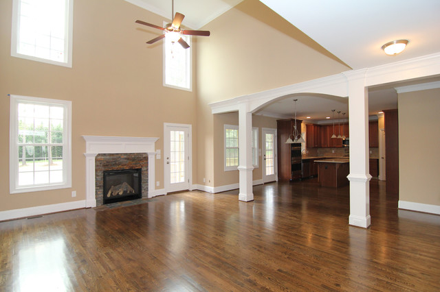 Two Story Family Room Traditional Family Room