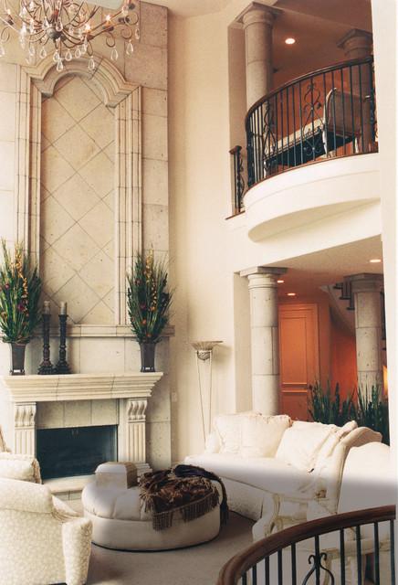 Two Story Fireplace Design Ideas Bathroomfurniturezone 2: Two Story Limestone Fireplace