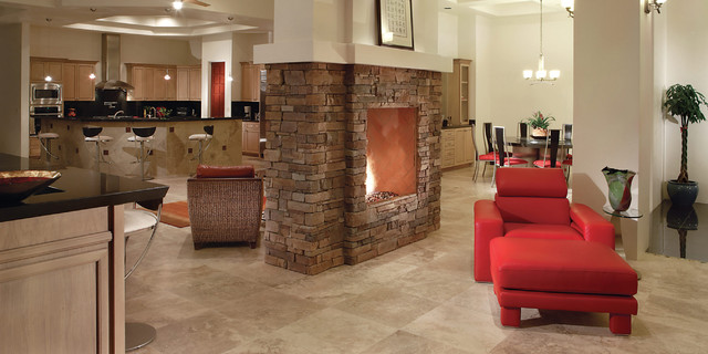 fireplace lighting sides double heating sided benefits two endless completehome way interiors fireplaces