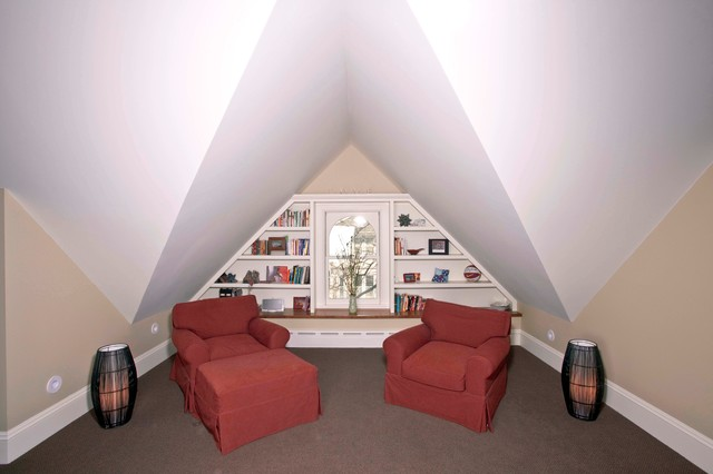 Unfinished Attic Turned Master Suite traditional-family-room