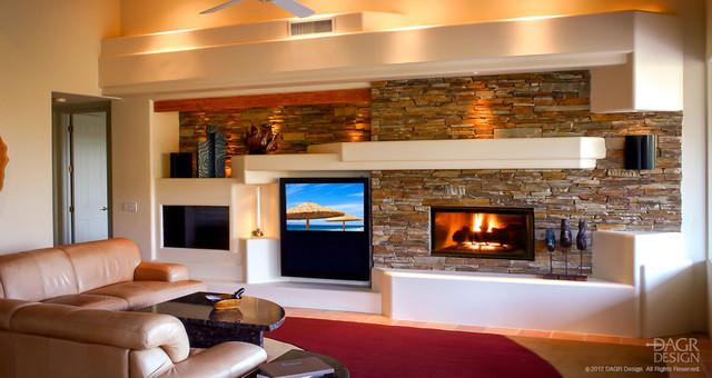 Unique Design Style Rustic Family Room Phoenix By