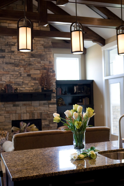 Upscale Arts & crafts inspired Home contemporary-family-room