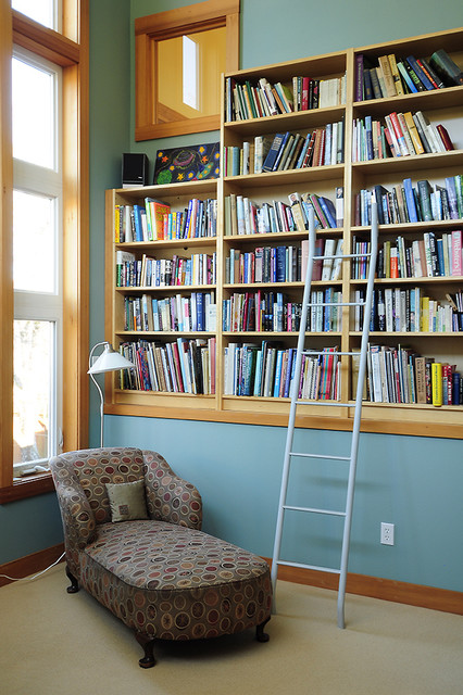 Upstairs Library traditional-family-room