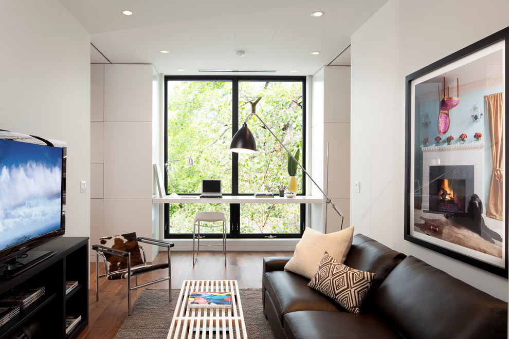 Example of a trendy family room design in Minneapolis