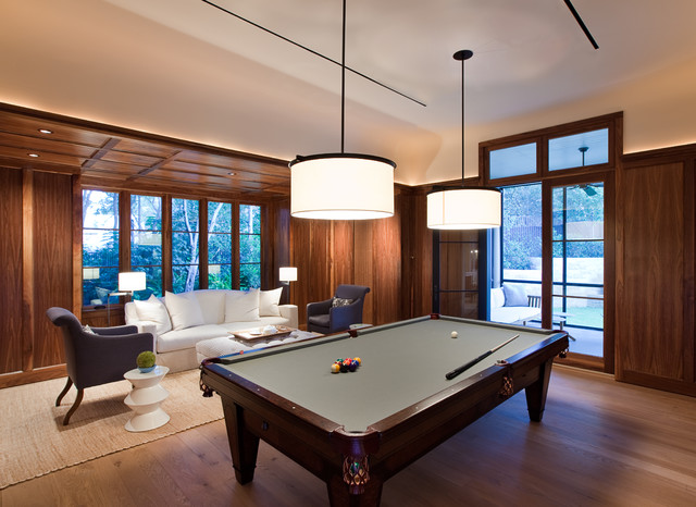 Take your cue planning a pool table room traditional family room by tim cuppett architects keyboard keysfo Gallery
