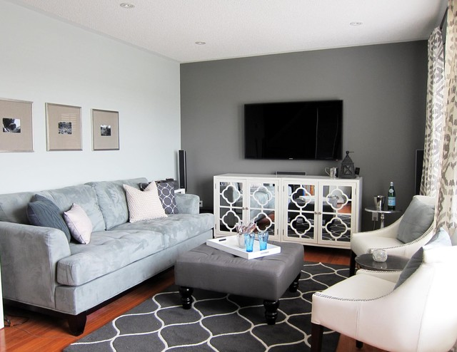 Urban Townhouse Contemporary Family Room