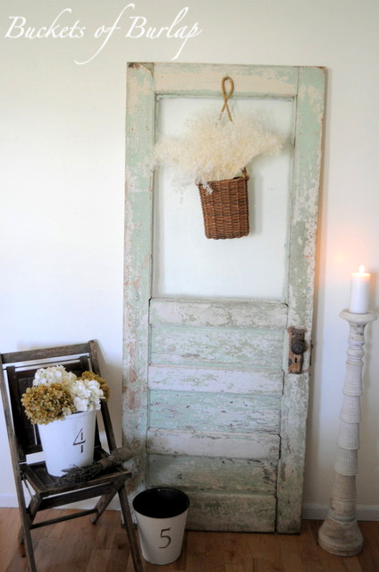 Using Old Doors eclectic-family-room