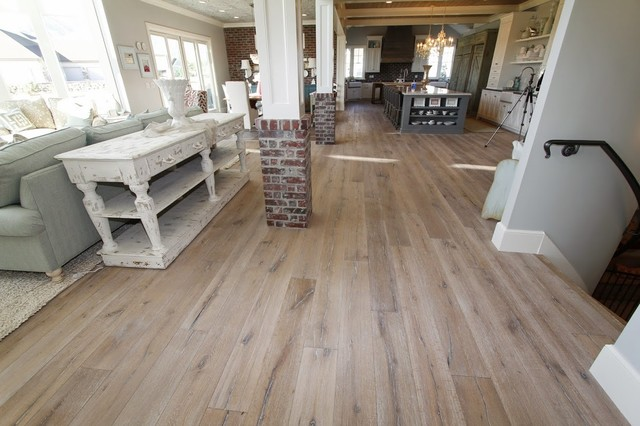 Utah valley parade of homes family room farmhouse for Most popular flooring in new homes