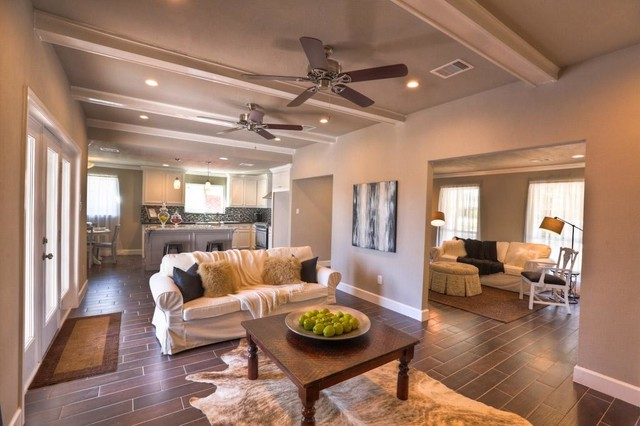 Vacant home staging 50s ranch remodel traditional family room houston by autumn dunn Home redesign