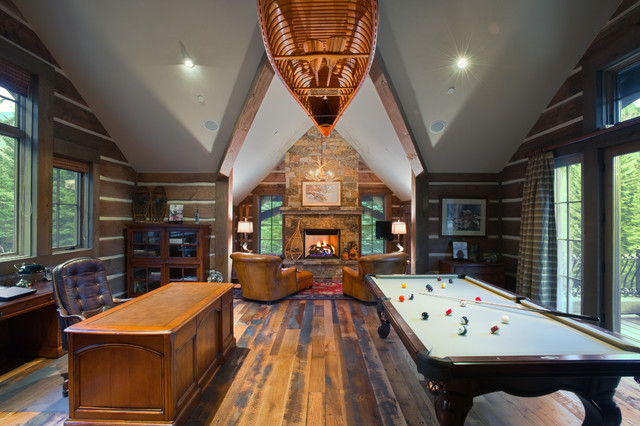 Vail Valley Retreat rustic-family-room