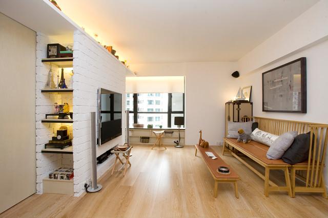 Vantage Park - Maximum flexibility with 10 sliding doors contemporary-living-room