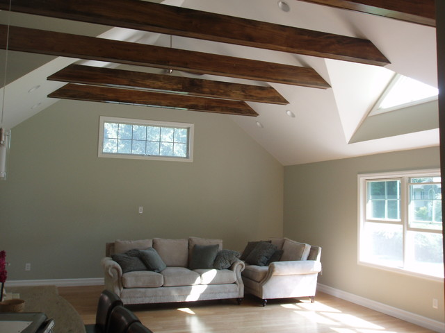 Vaulted ceiling exposed beams for Vaulted ceiling with exposed trusses
