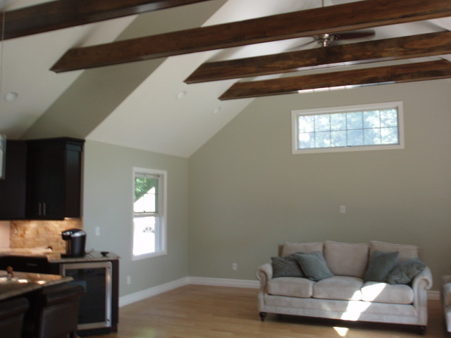 Vaulted ceiling exposed beams for Exposed wood beam ceiling
