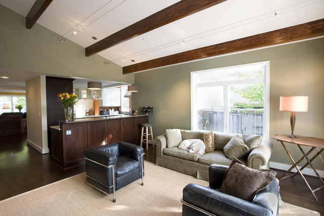 Http Www Houzz Com Photos 331200 Vaulted Ceiling In The Great Room Contemporary Family Room Seattle