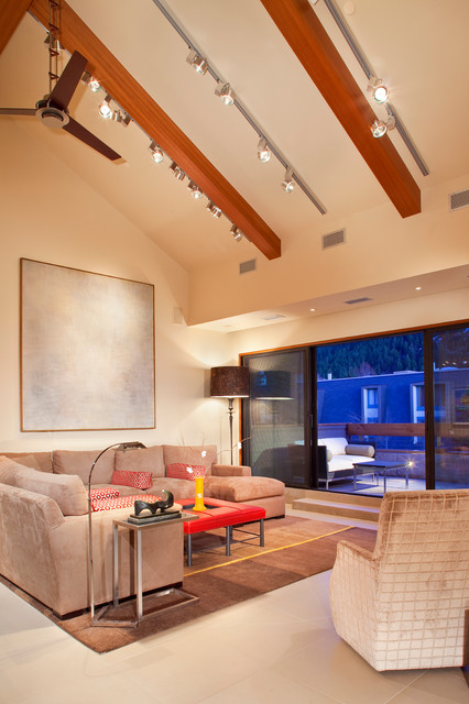 Vaulted Ceilings In Contemporary Vacation Home Contemporary Family Room Denver By Hpd