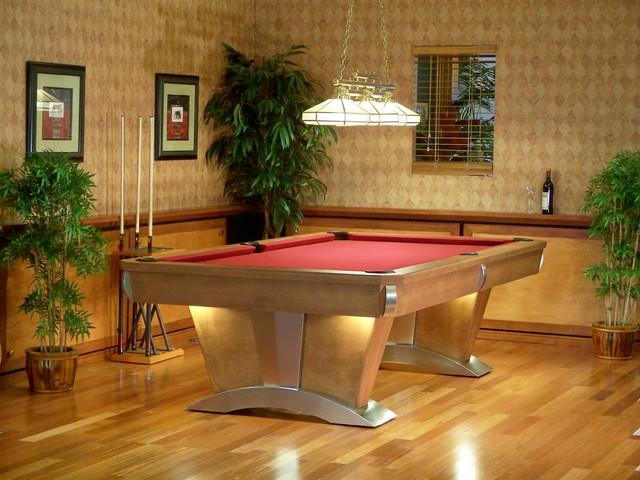 Pool Table In Living Room : Vegas Pool Table - Traditional - Indoor Pub And Bistro ...