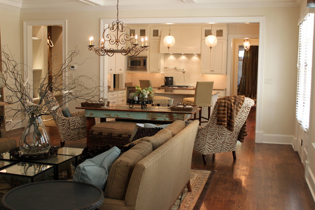 Example of a classic family room design in Other