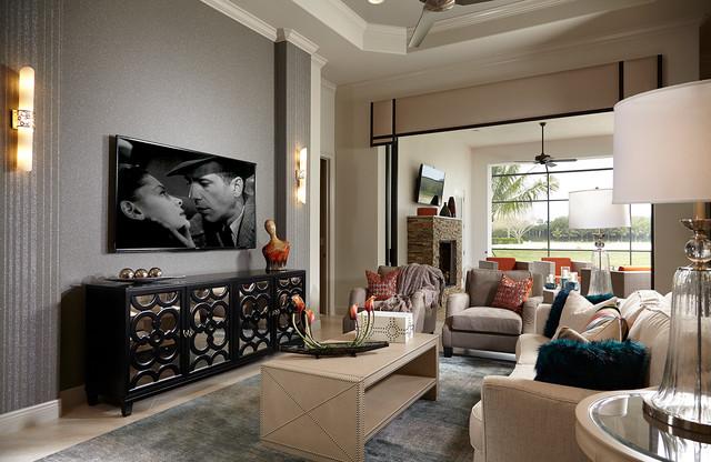 Villa adriana miromar lakes vogue interiors transitional family games room miami - Villa de vacances vogue interiors ...