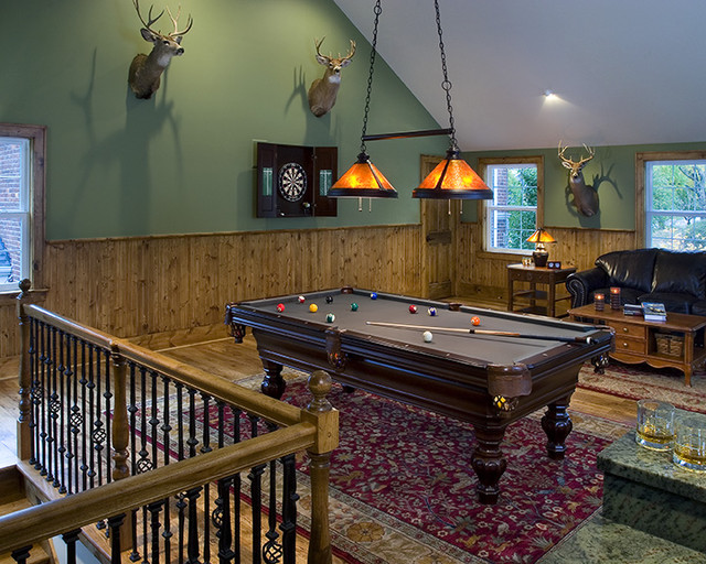 Vinsetta Game Room Addition Traditional Family Room Detroit - Garage games room ideas