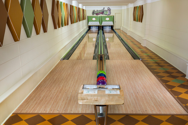 Vintage bowling alley games